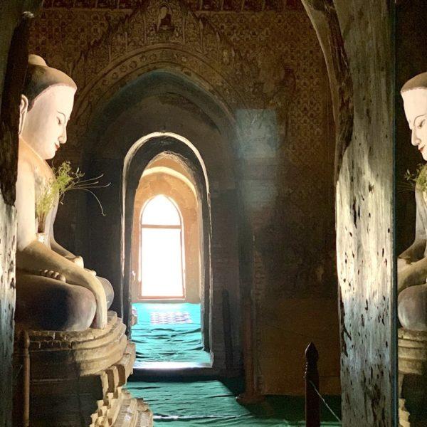 Buddha Spiegelung Paya Thone Zu Tempel Bagan