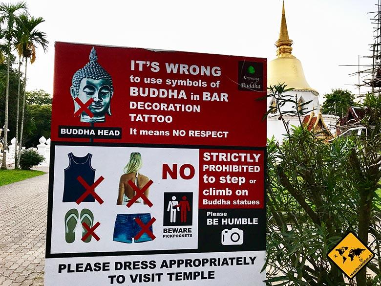 Buddha Tempel Kleidungsordnung