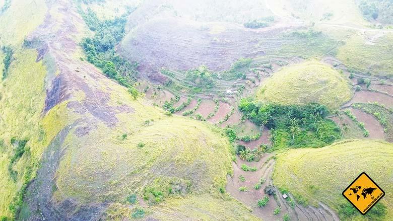 Bukit Teletubbies Nusa Penida von oben