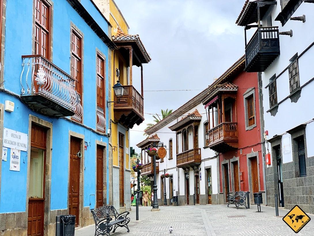 Bunte Häuser Gasse Teror Gran Canaria