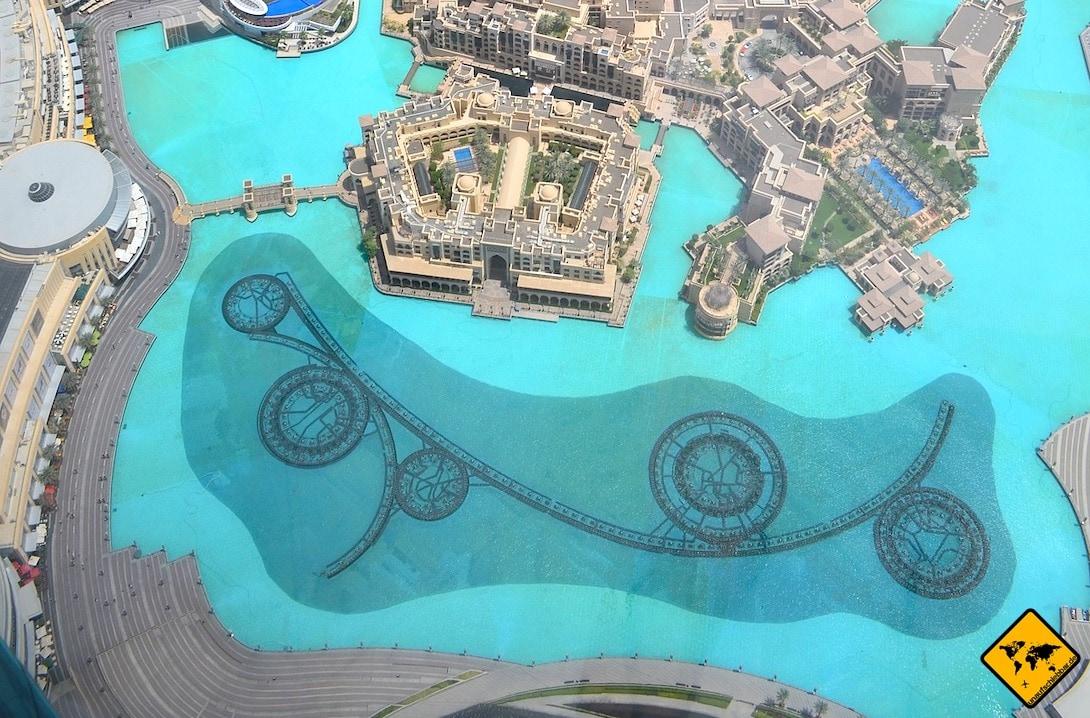 Burj Lake Wasserspiele von oben