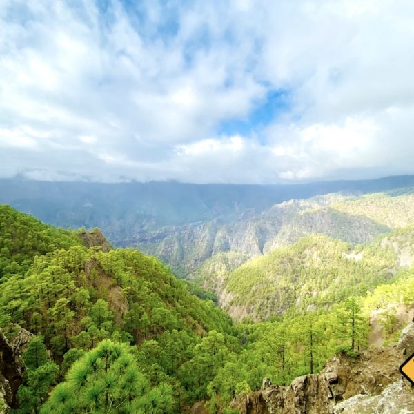 Caldera de Taburiente Aussicht vom Mirador de los Roques