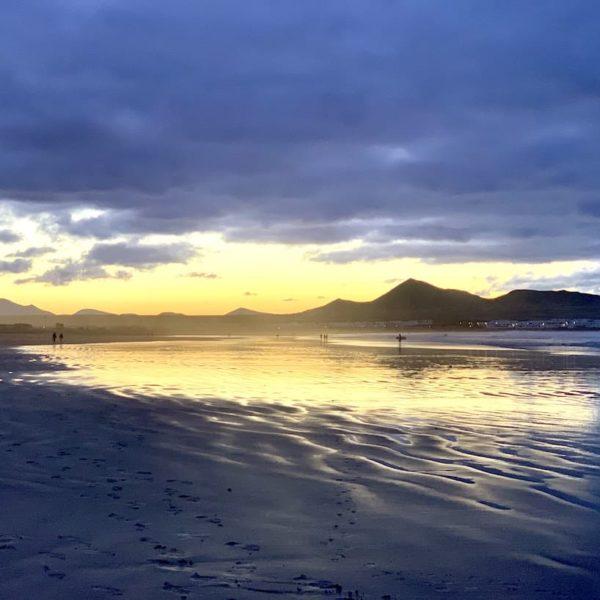 Caleta de Famara Strand Abend