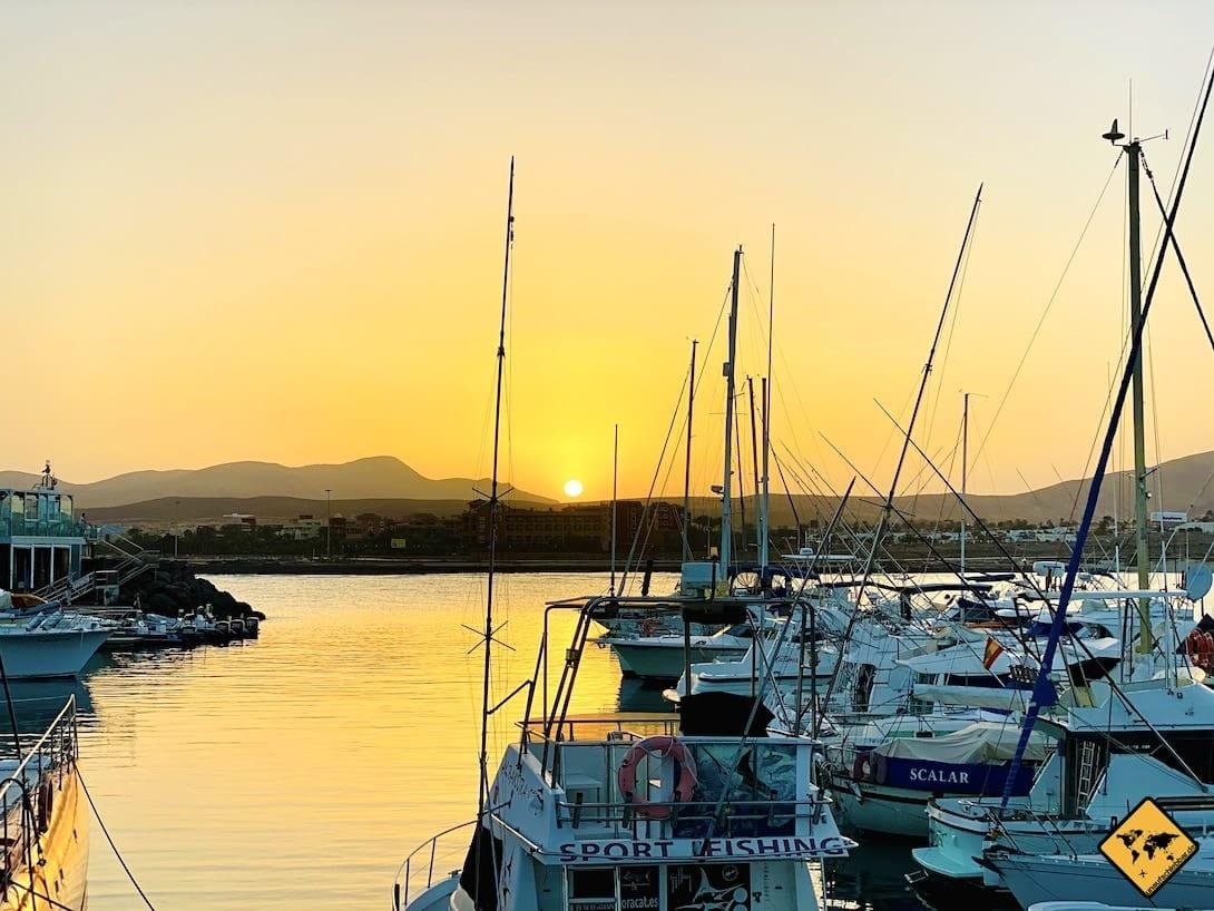 Caleta de Fuste touristisch Hafen