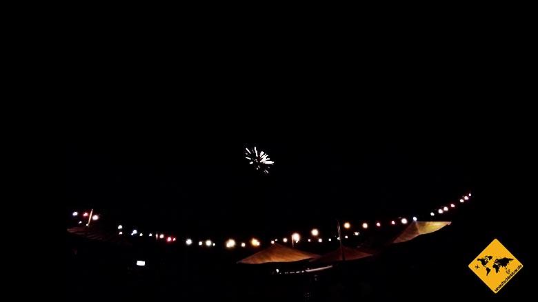 Canggu Bali Party Feuerwerk