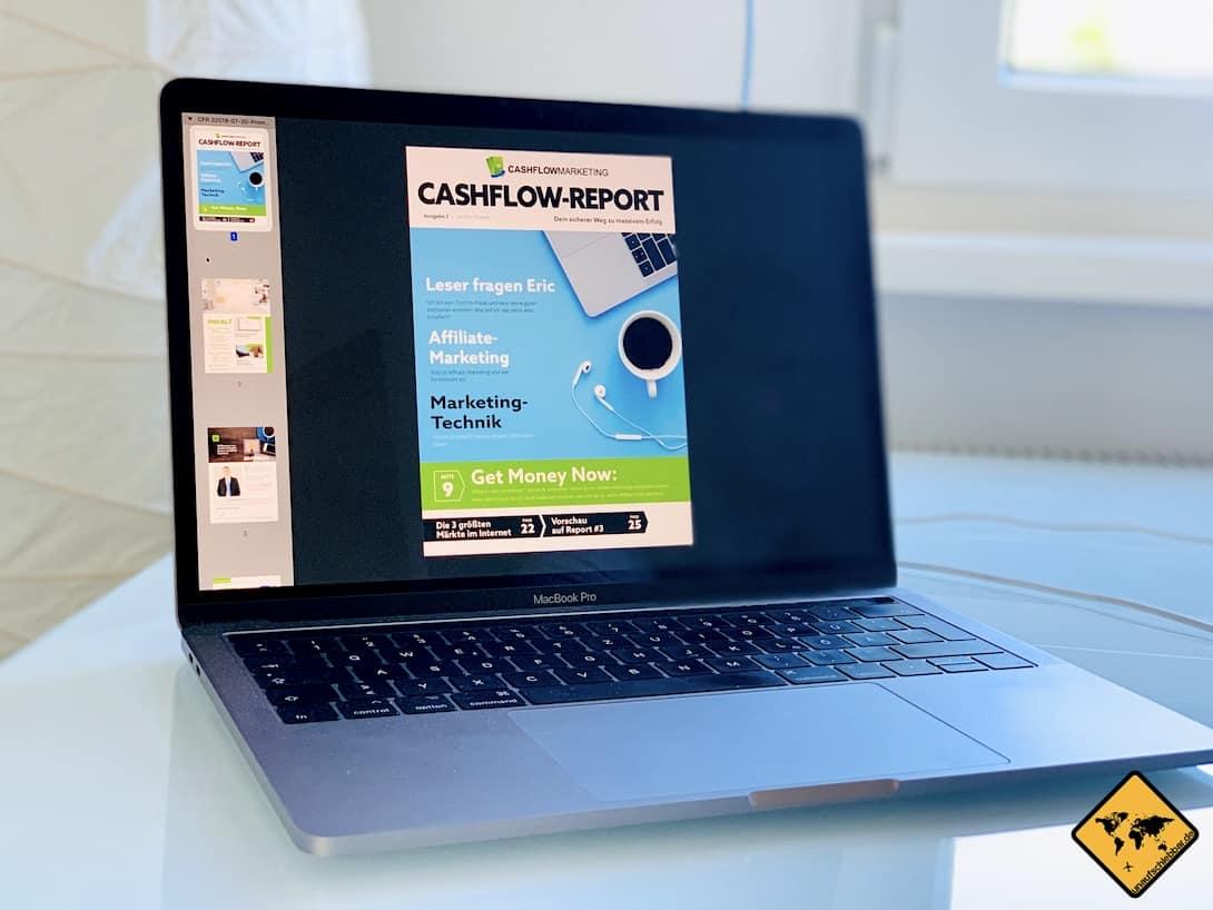 Cashflow Report PDF Laptop