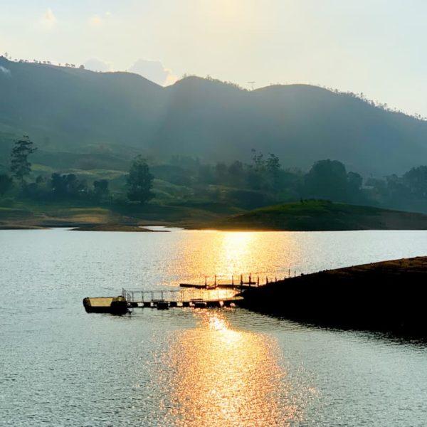 Castlereigh Reservoir Hatton Sri Lanka Sonnenuntergang