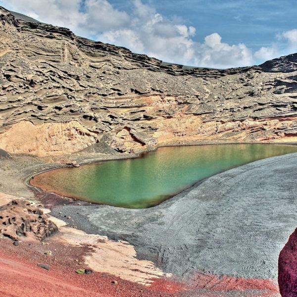 "Der grüne See ""Charco de los Clicos"" im Nationalpark Timanfaya"