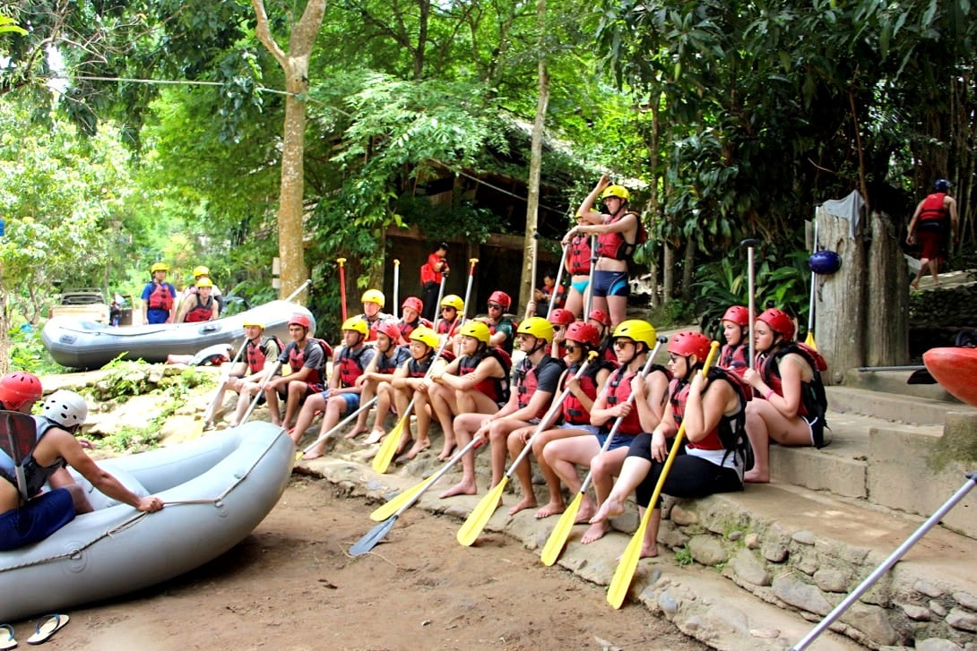 Chiang Mai Ausflüge Rafting Gruppe