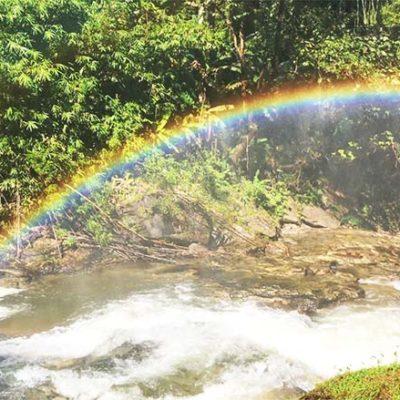 Chiang Mai Ausflüge Wachirathan Waterfall Regenbogen