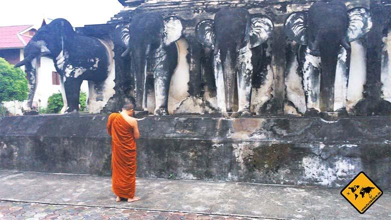 Chiang Mai Tempel Mönche
