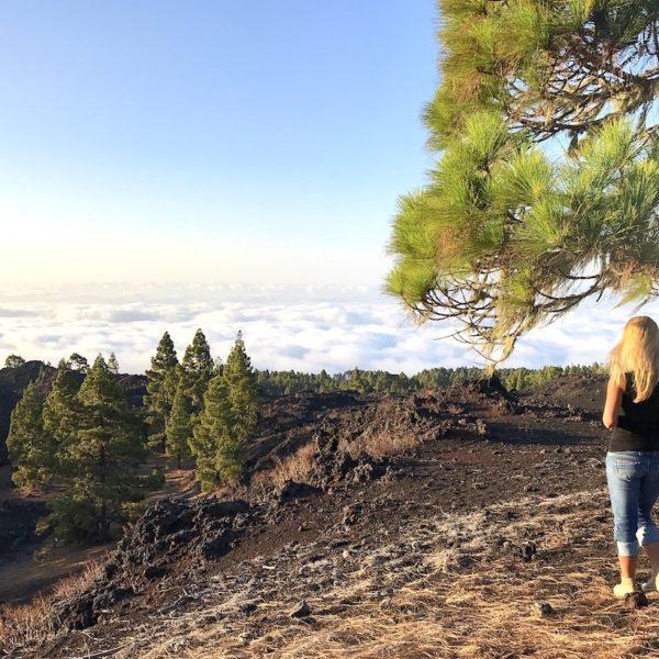 Chinyero wandern auf Teneriffa Wolkendecke