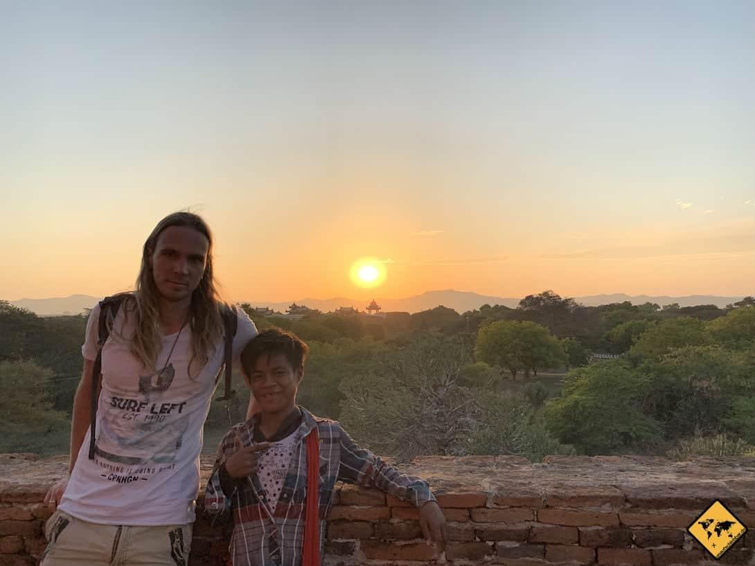 Christian Guide Bagan Sunset
