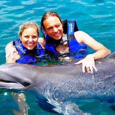 Christian und Jenny Delphinschwimmen