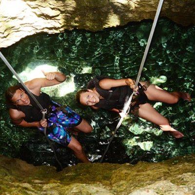 Christian und Jenny Mexiko Cenote