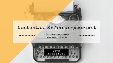 content.de Erfahrungen / Test – lohnt sich die Texterstellung?
