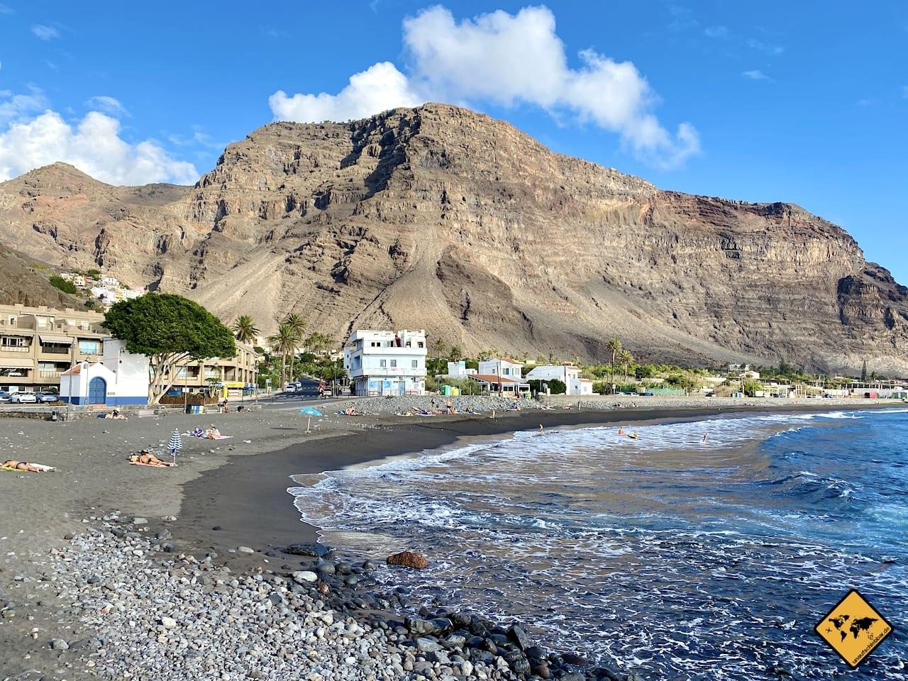 Corona La Gomera Lage Valle Gran Rey Strand November 2020