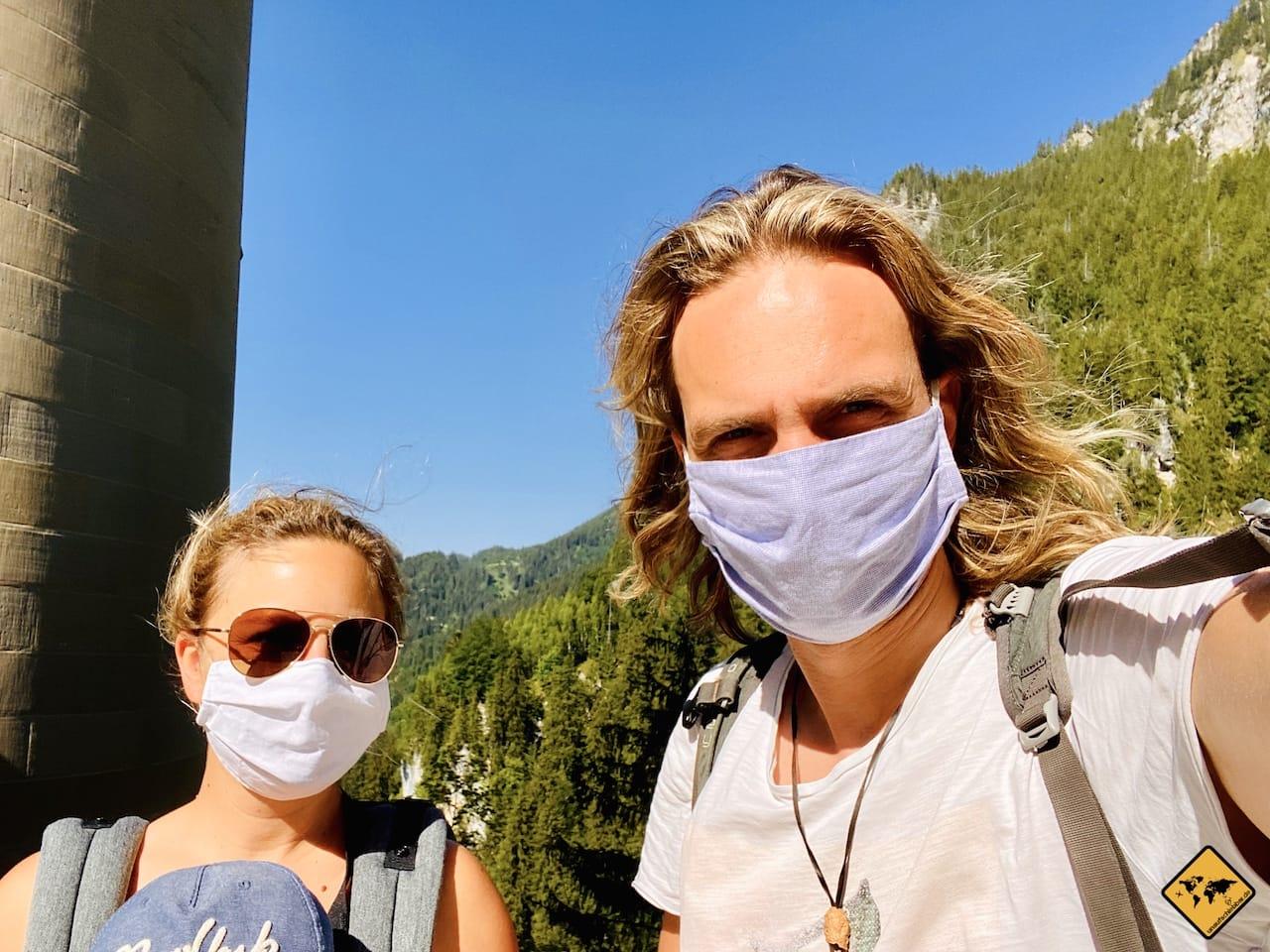Corona Maskenpflicht Schloss Neuschwanstein Führung