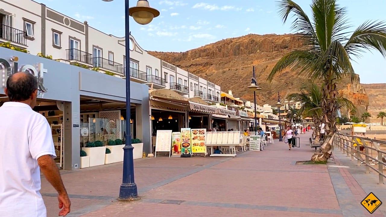 Corona Promenade ohne Masken Puerto de Mogán Gran Canaria