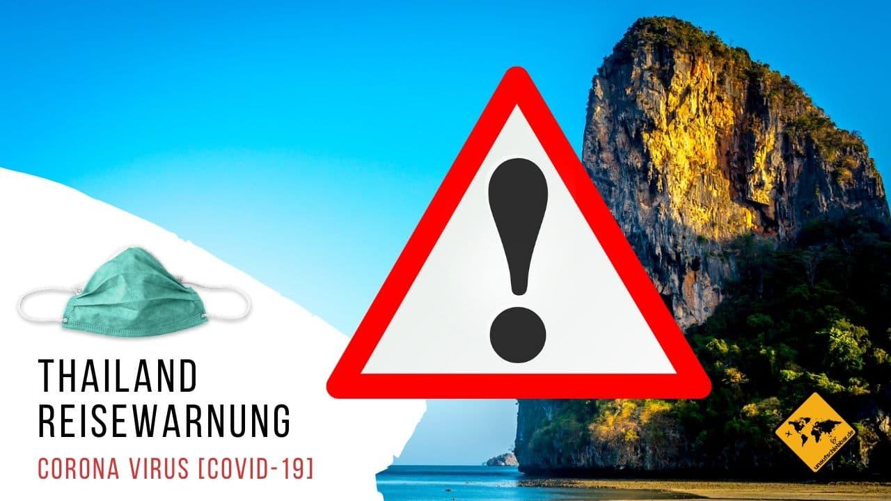 Corona Virus Covid-19 Thailand Reisewarnung