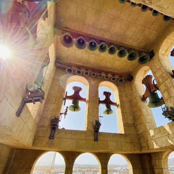 Corralejo Glockenturm Sonnenstrahl