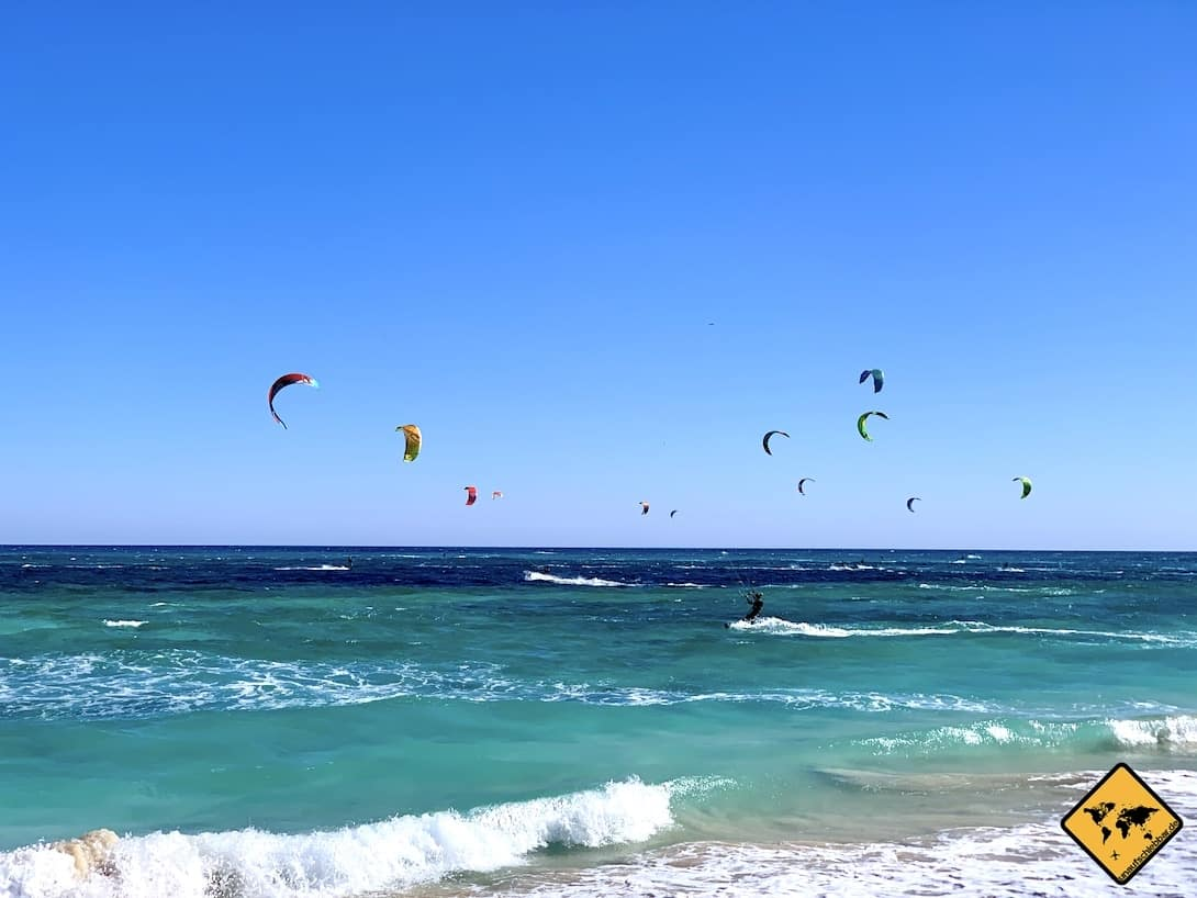 Corralejo Kitesurfer Meer Wellen