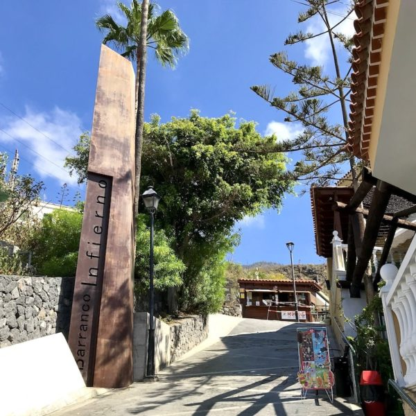 Costa Adeje Barranco del Infierno Eingang