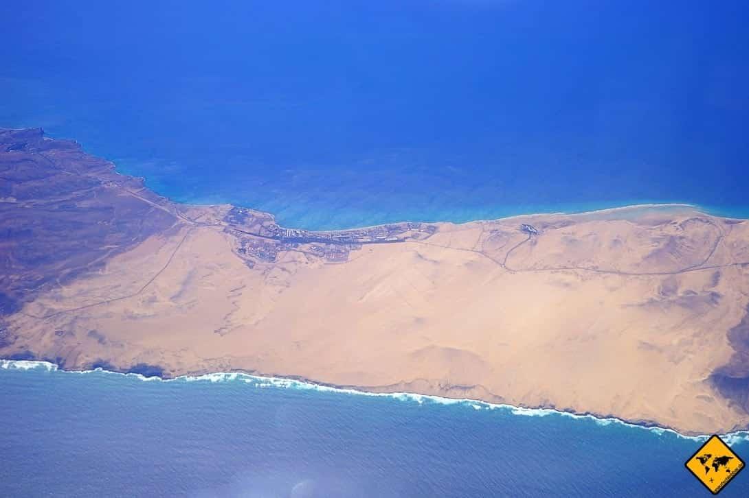 Costa Calma Fuerteventura Vogelperspektive