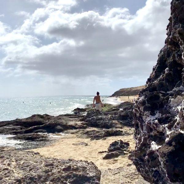 Costa Calma Übergang Strandabschnitte