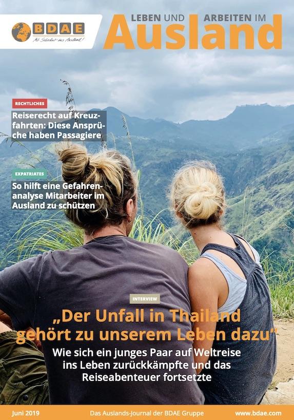 unaufschiebbar auf dem Cover des BDAE Journals (Juni 2019)