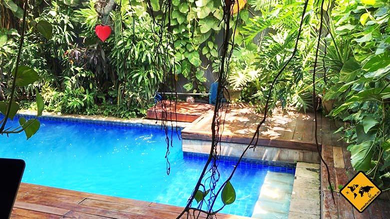 Coworking Canggu Dojo Bali Poolsicht