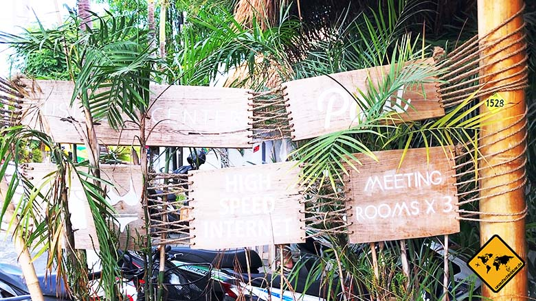 Coworking Space Bali Eingang Schilder