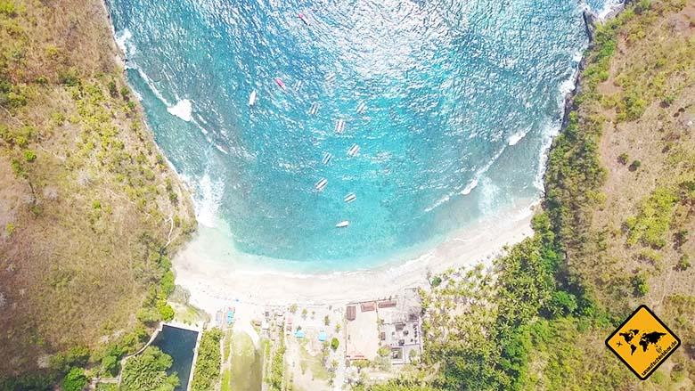 Crystal Bay Bali von oben