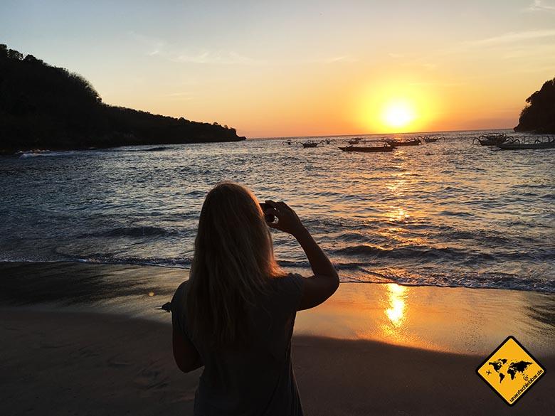 Crystal Bay Beach Foto Sonnenuntergang