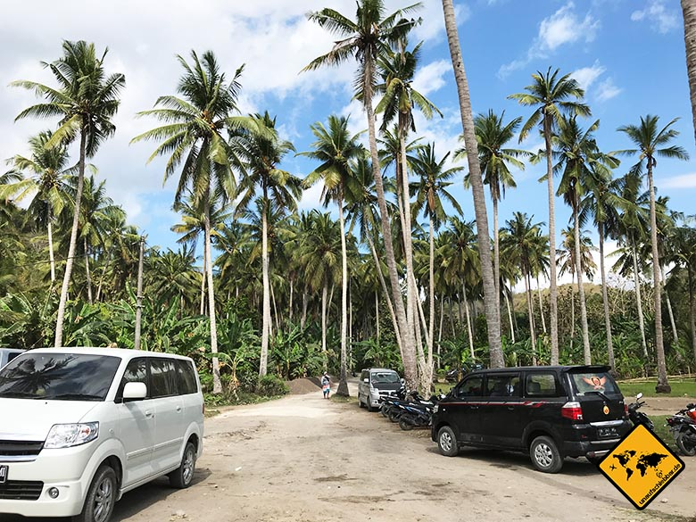 Crystal Bay Beach Nusa Penida Parkplatz
