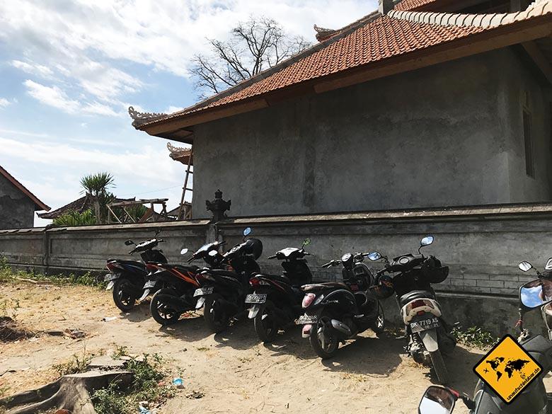 Crystal Bay Nusa Penida Roller Parkplatz