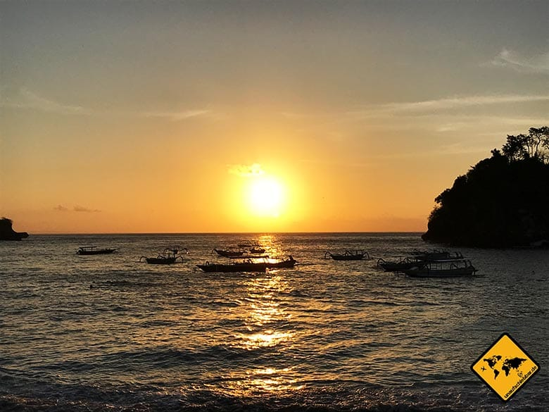 Crystal Bay Nusa Penida Sonnenuntergang Bucht