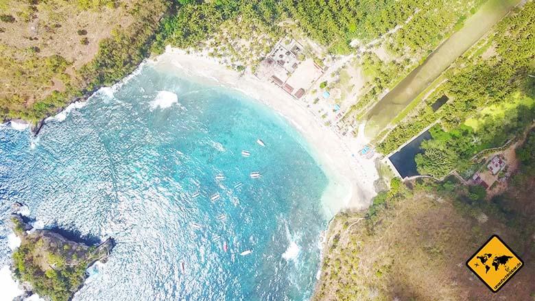 Crystal Bay Nusa Penida von oben