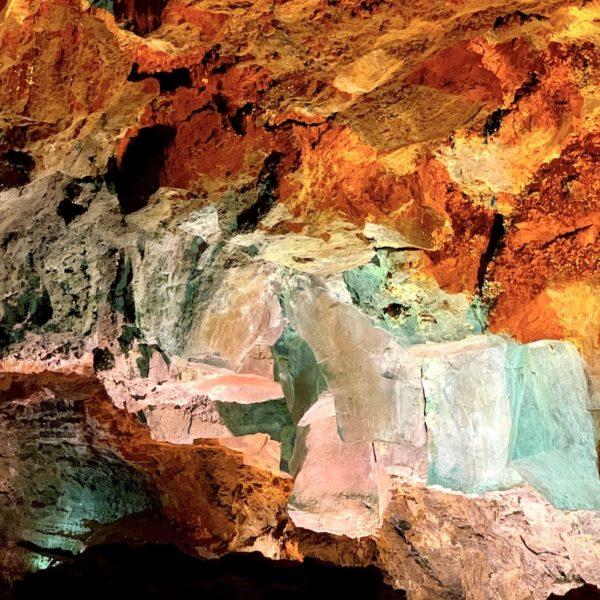 Cueva de los Verdes Lanzarote Lichteffekte