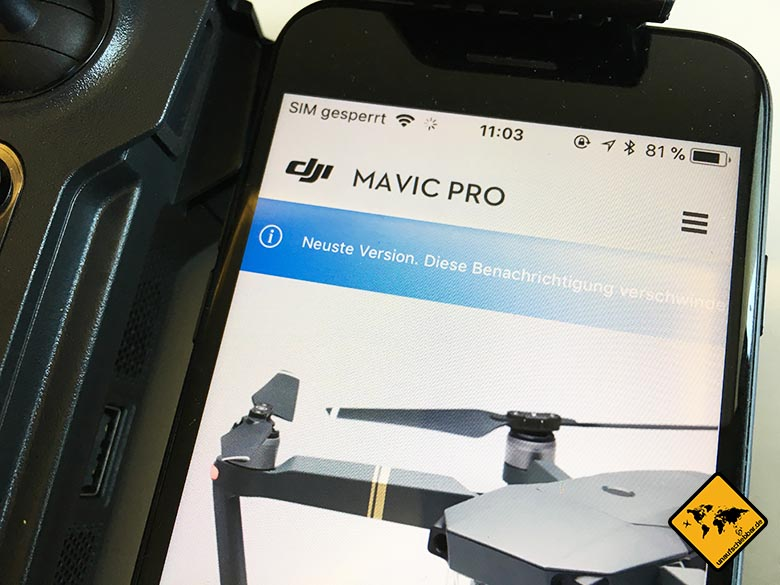 DJI Mavic Pro Firmware Update neuste Version