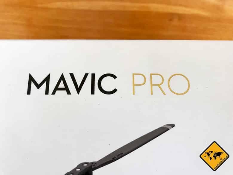DJI Mavic Pro Lieferumfang Karton nah