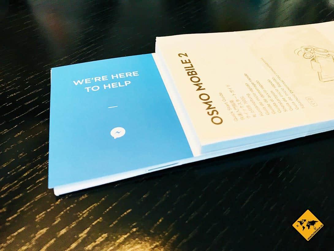 DJI Osmo Mobile 2 Anleitung Bedienungsanleitung Handbuch Gebrauchsanweisung