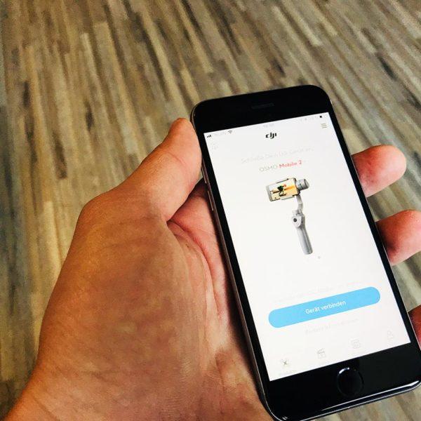 DJI Osmo Mobile 2 App Bluetooth