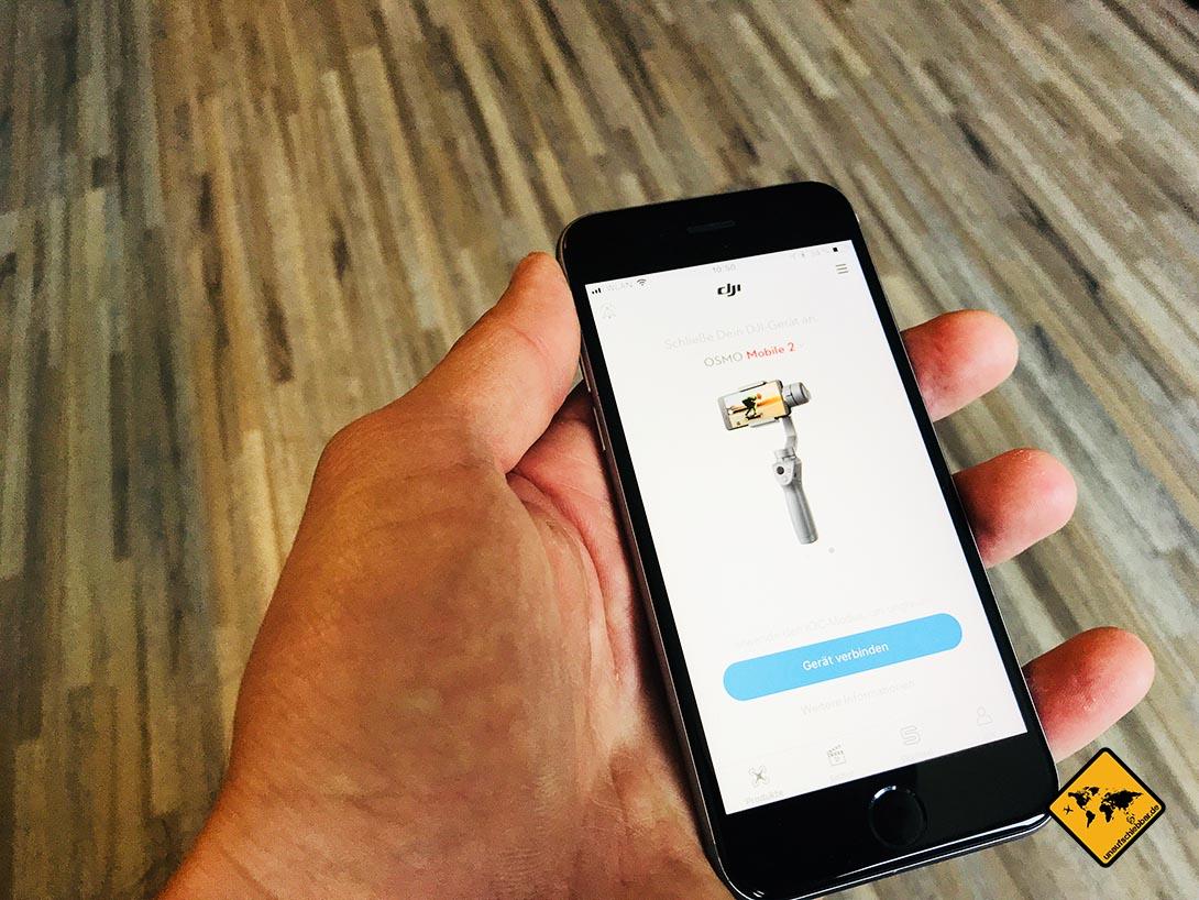 Dji Osmo Mobile 2 Test 9 10 Ist Er Wirklich Besser Als Der Vorgnger Smartphone Gimbal Anschlieend Kannst Du Die App Direkt Mit Dem Verbinden Stelle Dafr Aber Sicher Dass Sowohl Auch Dein