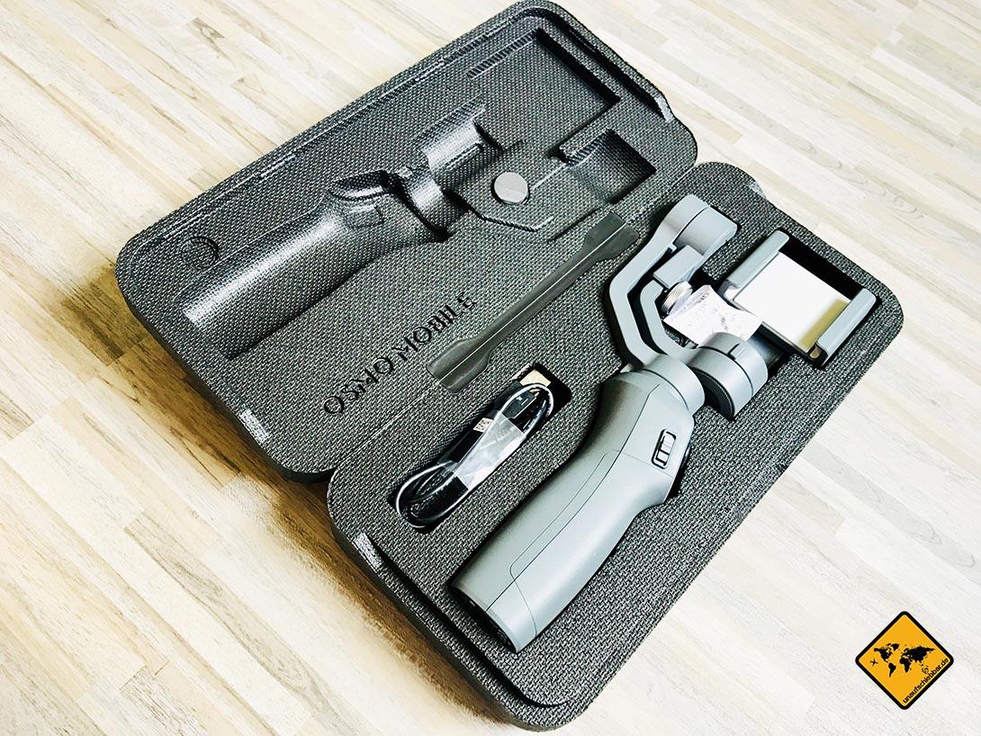 DJI Osmo Mobile 2 Tasche Case mit Inhalt