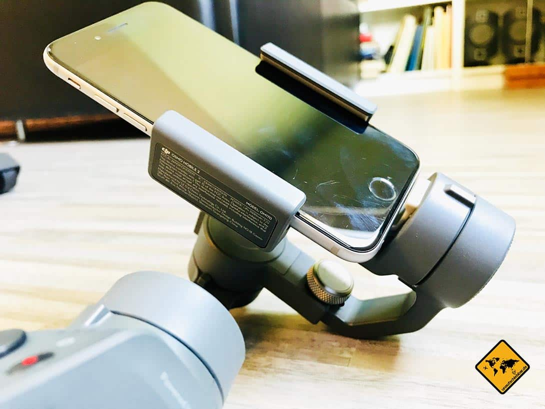 DJI Osmo Mobile 2 iPhone im Mobilgerätehalter