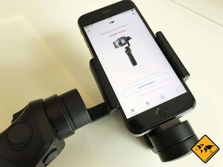 DJI Osmo Mobile Test Gerät verbinden