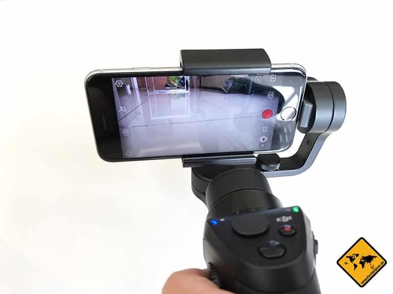 DJI Osmo Mobile Test Smartphone Gimbal Aufnahme