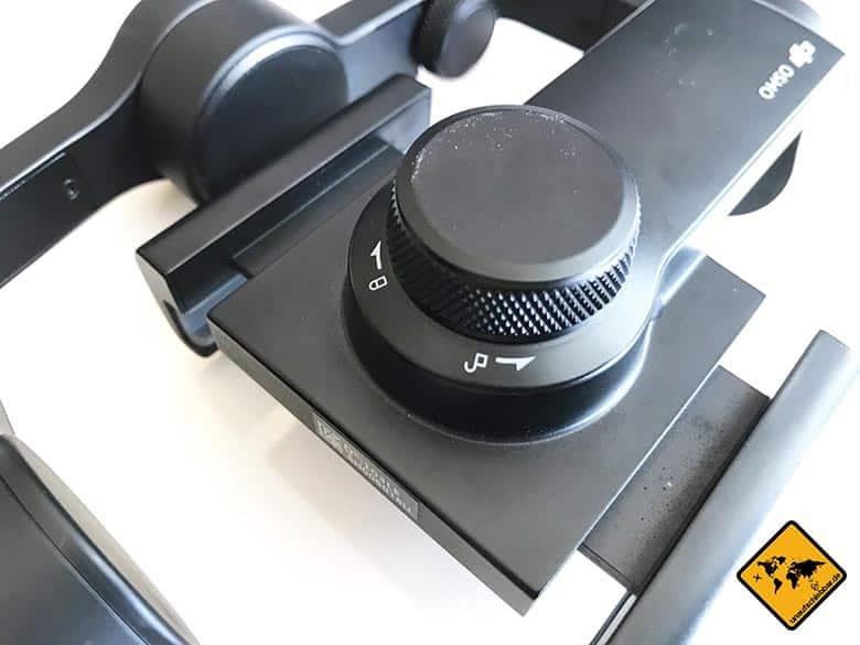 DJI Osmo Mobile Test Smartphone Gimbal Balance Justierknauf Smartphone