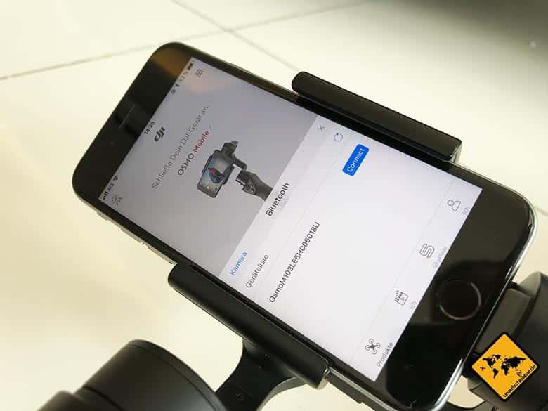 DJI Osmo Mobile Test Smartphone Gimbal Bluetooth Verbindung